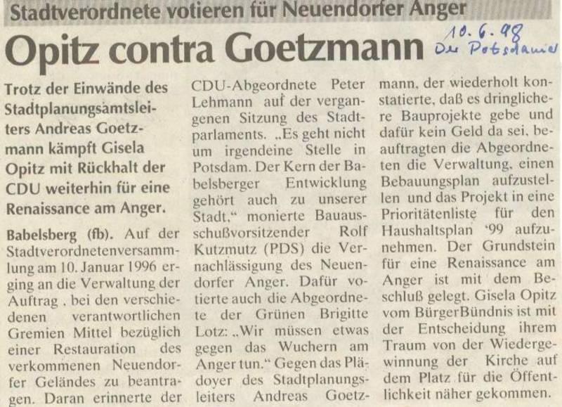 Opitz contra Goetzmann