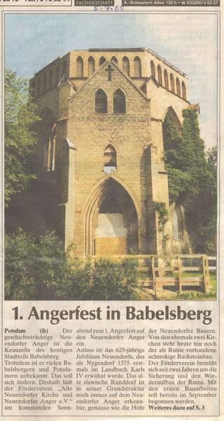 1. Angerfest in Babelsberg