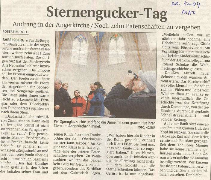Sternengucker-Tag