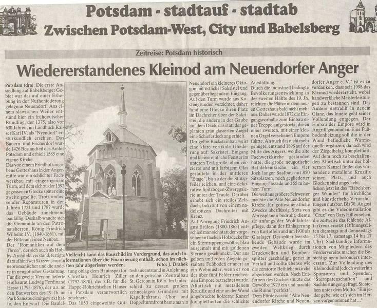 Wiedererstandenes Kleinod am Neuendorfer Anger