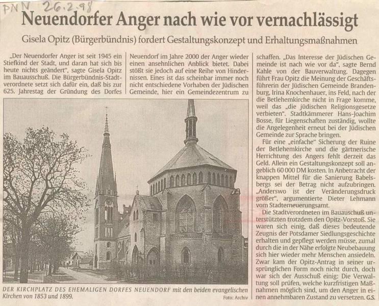Neuendorfer Anger nach wie vor vernachlässigt