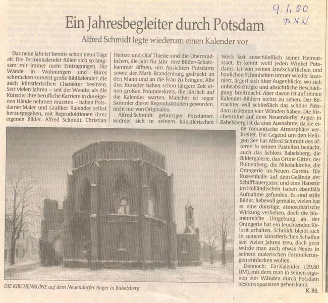 Ein Jahresbegleiter durch Potsdam