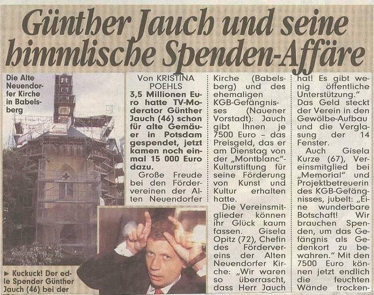 Günther Jauch und seine himmlische Spenden-Affäre